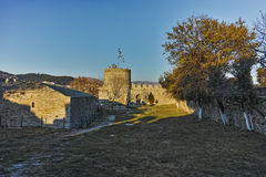 Ruins of  Byzantine fortress in Kavala, East Macedonia and Thrace Stock Image