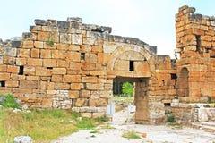 Ruins of the Byzantine northern gate,  Hierapolis, Turkey Stock Photo