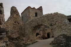 Ruins of Cachtice castle royalty free stock photo