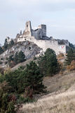 Ruins of Cachtice castle in Western Slovakia stock photo