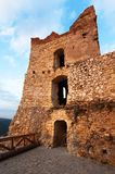 Ruins of Cachticky hrad - Slovakia Stock Image