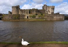 Ruins of Caerphilly Castle, Wales. Stock Image