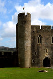Ruins of Caerphilly Castle, Wales. Royalty Free Stock Photography