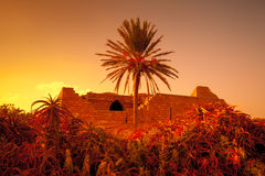 Ruins of Caesarea fortress Stock Photography