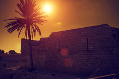 Ruins of Caesarea fortress Royalty Free Stock Photo