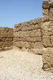 Ruins of Caesarea, Israel. Parts of the walls of the city of Caesarea, built by romans over 2000 years ago Stock Photo