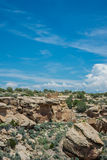 Ruins and Canyon at Hovenweep Stock Photography