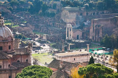 Ruins on Capitoline Hill in Rome Royalty Free Stock Images