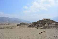 Ruins of the Caral-Supe civilization, Peru. Ruins of the town of the Caral Supe civilization, the oldest civilization of America, in Peru. This ruins are an stock image