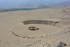 Ruins of the Caral-Supe civilization, Peru. Ruins of the town of the Caral Supe civilization, the oldest civilization of America, in Peru. This ruins are an stock photos