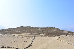 Ruins of the Caral-Supe civilization, Peru Stock Image
