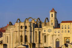 Ruins of Carmo church and convent Royalty Free Stock Photo
