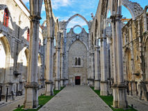 Ruins of Carmo church in Lisbon Stock Image
