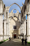 Ruins of Carmo church in  Lisbon, Royalty Free Stock Images