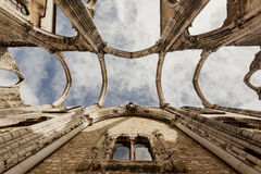 Ruins of the Carmo Church, Lissabon Royalty Free Stock Image