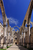 Ruins of the Carmo Church, Lisbon Stock Photography