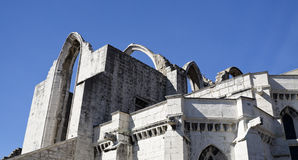 Ruins of the Carmo Convent Stock Images