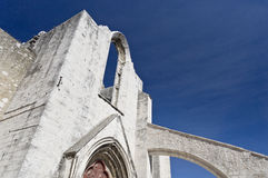 Ruins of the Carmo Convent Royalty Free Stock Photography