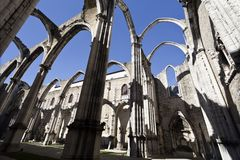 Ruins of the Carmo Convent Stock Photography