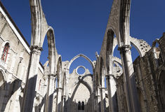 Ruins of the Carmo Convent Royalty Free Stock Photos