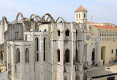 Ruins of the Carmo Convent, Lisbon, Portugal Stock Photography