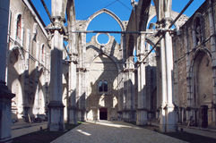 Ruins of Carmo Convent, Lisbon Royalty Free Stock Photos