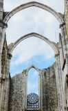 Carmo Convent in Lisbon. Ruins of Carmo Convent in Lisbon, Portugal Convento da Ordem do Carmo Stock Photo