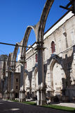 Ruins of Carmo Convent in Lisbon Royalty Free Stock Image