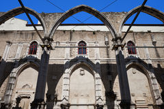 Ruins of Carmo Convent in Lisbon Stock Photography