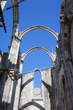Ruins of Carmo Gothic Church in Lisbon Royalty Free Stock Image