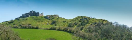 Ruins of Carreg Cennen Castle Stock Photography