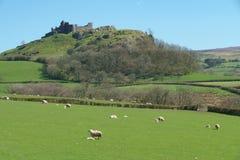Ruins of Carreg Cennen Castle Stock Photo