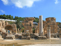 Ruins in Cartage Royalty Free Stock Photography