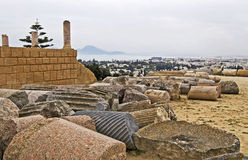 Ruins of Carthage. In Tunisia Stock Image