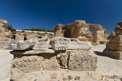 Ruins of Carthage. Ancient Roman bath Royalty Free Stock Photos