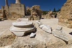 Ruins of Carthage. Ancient Roman bath Stock Image