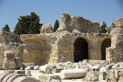 Ruins of Carthage Royalty Free Stock Photography