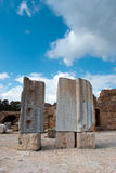 Ruins of Carthage, Roman alphabet Royalty Free Stock Images