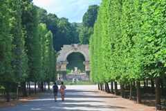 Ruins of Carthage. Schonbrunn. Vienna, Austria Royalty Free Stock Images