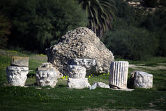 Ruins in Carthage, Tunisia Royalty Free Stock Photo
