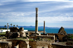 Ruins in Carthage, Tunisia Stock Image