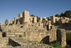 The Ruins of Carthago, Tunisia. Columns of the ruins of Carthago in Tunisia, Africa Stock Images