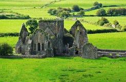 Ruins in Cashel. Rock of cashel - ruins of Ireland Royalty Free Stock Photography