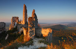 Ruins of castle Stock Photo