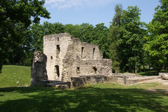 Ruins of a castle. Estonia. Ruins of a castle in Paide.1256 stock photography