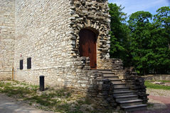 Ruins of a castle. Estonia. Ruins of a castle in Paide.1256 royalty free stock photography