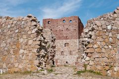 Ruins of castle Stock Image