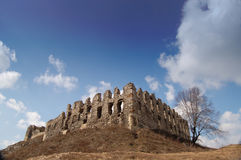 Ruins of castle. In Poland Royalty Free Stock Photography