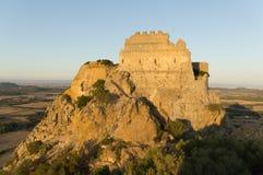 Ruins of castle Acquafredda Siliqua Royalty Free Stock Image
