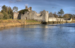 Ruins of castle in Adare - HDR. Stock Image